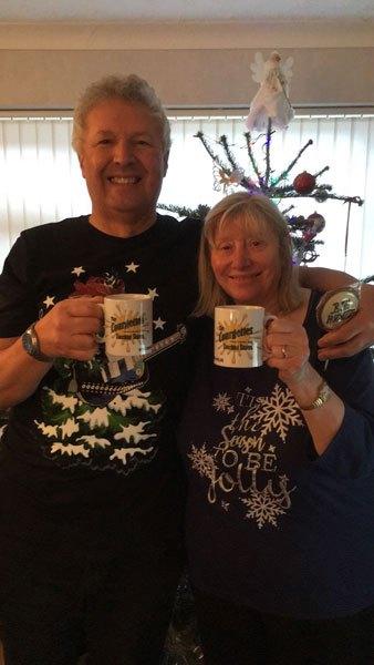 Roger and Ann's Christmas mugshot