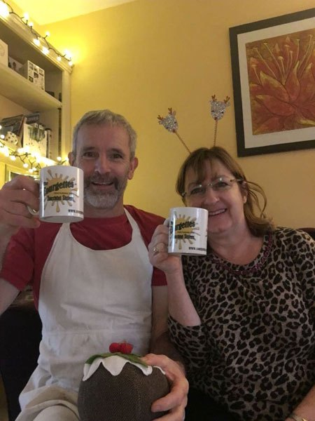 David and Linda toast another good year