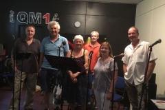 Rehearsing new songs at QM Studios in Horsham