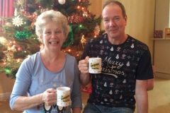 Viv and Michael found these collectable beverage mugs under the tree