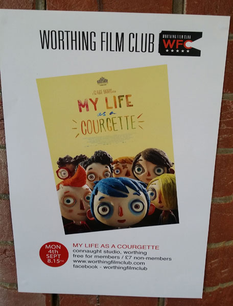 my life as a courgette poster